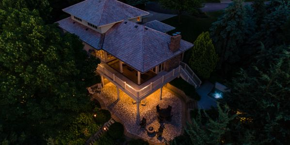 Drone photo of a luxury high end drone photo for real estate marketing in Minnesota