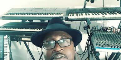 Studio time with my synthesizers and behringer Mixer.