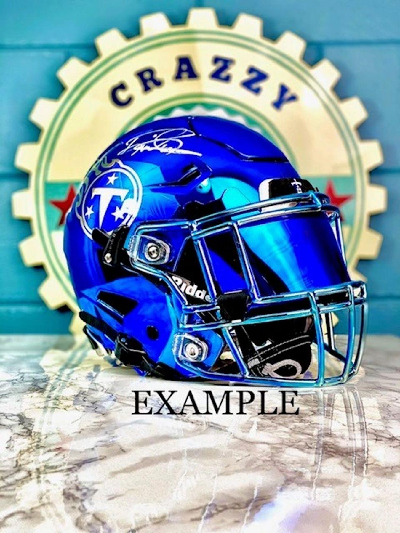 Details about  /Precision Football Helmet Visor Revo Blue
