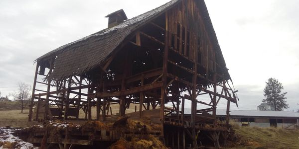 the reclamation process of a barn