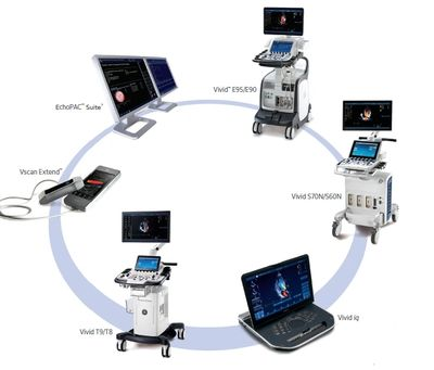 GE's Full Line of Vivid Cardiovascular  Ultrasound Systems