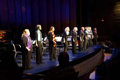 Small ensemble Vivacious! at Sleigh Ride, Dec. 2. Photo by Radz D. Photography