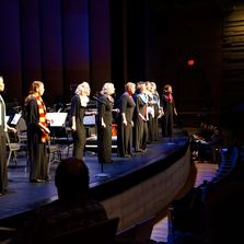 Small ensemble Vivacious at TWCD's Sleigh Ride concert. Photo by Radz D. Photography