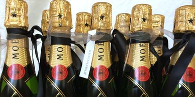 Moet champagne on charter flights, in-flight catering