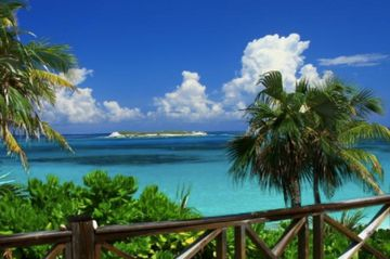 Charter flights to Governor's Harbour, Eleuthera from Miami and Fort Lauderdale. Beach, palm trees