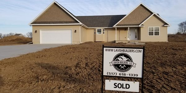 Lavish Builders Lansing Michigan Custom Home Builder Ranch Style Home Located in Portland, MI.