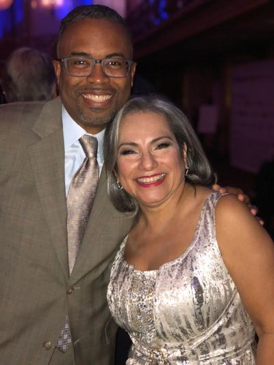 David Rudd with Gloria Castillo, president and CEO of Chicago United