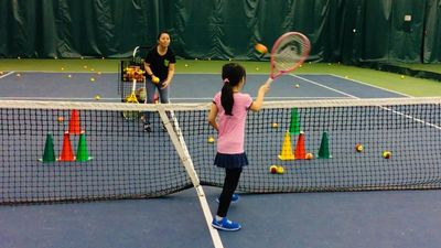 Binghamton Tennis has terrific kids programs including a tennis academy and a summer camp.