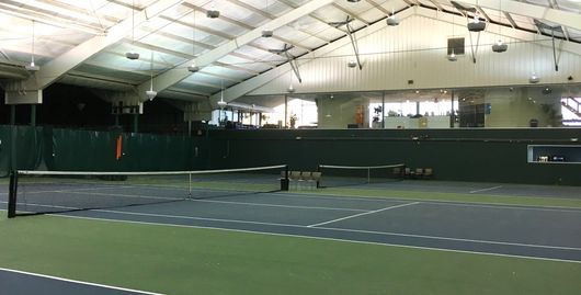 Binghamton Tennis has nine indoor courts in its climate controlled facility.