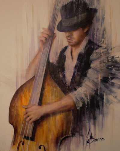 ''Intimate double bass'' 36''x24''