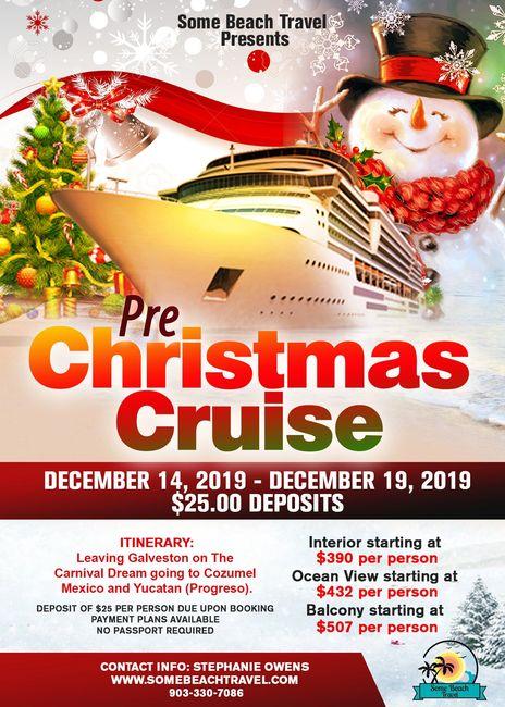 Pre Christmas Cruise 2019 Some Beach Travel