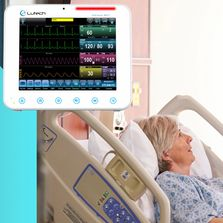 Lutech Datalys 800 series multi-parameter patient monitors.
