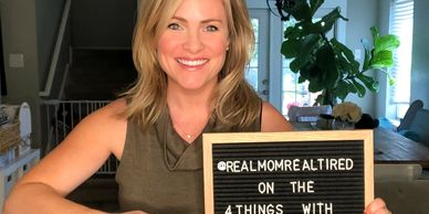 Erica Brennes, founder of Real Mom, Real Tired is interviewed on the 4 Things with Amy Brown Podcast