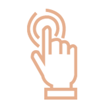 icon of a hand touching a button