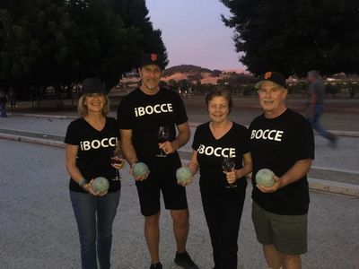 a team from our bocce league