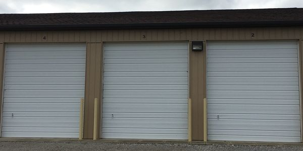 Indoor Drive through RV units. with automatic garage doors and openers.
