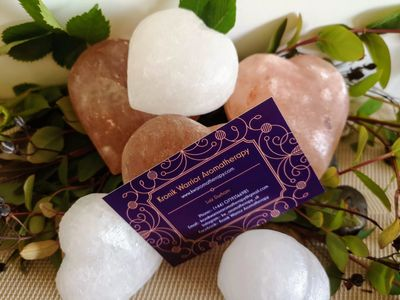 #himalaynsalt #massage #hotstonemassage #hotstones #heart #loveheart #businesscard #salt #leaf