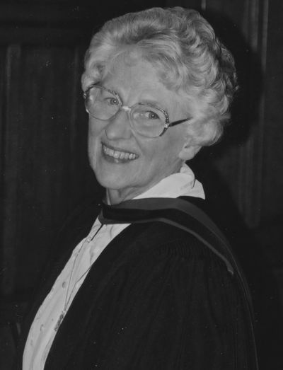 Frances Whitehead at her Lambeth MA graduation in 2001