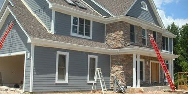 New siding on your house in Adams. siding contractor Adams, WI. New vinyl siding, log siding
