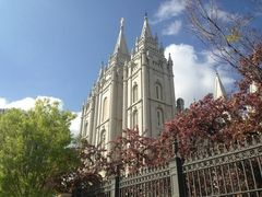 Temple Square in Downtown Salt Lake City, a beautiful place to visit and walk the grounds