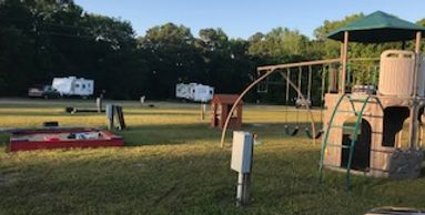 Playground for the kids at Amazing Texas Rv Resort & Campground in Tatum Texas.  Located in Texas.