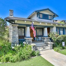 Vintage Craftsman on an oversized double lot in Downtown HB  Built by Greene and Greene in 1912.