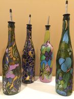 it's oil about recycling. Think Tiffany Lamp meets empty wine bottle