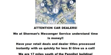 Time is Money in the automotive business! See us to process your dealer transactions!