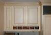 Painted and antiqued cabinets
