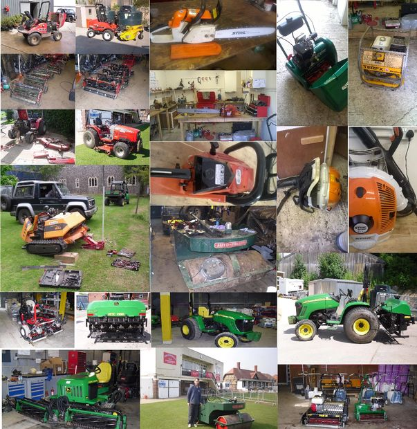 Machinery servicing, chainsaw servicing, mower servicing, cricket club machinery