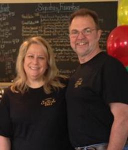 Bob and Kristine - owners of Avon Country Deli