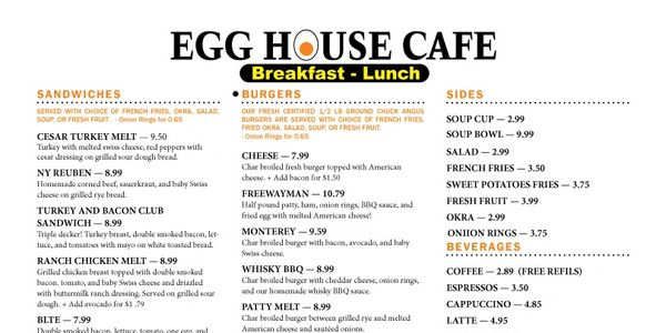 Best Lunch in Denton... Here is a menu for you to select from.