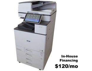 Savin MP C3004 used color multi-function copier, printer, scanner, fax for sale. low meter.