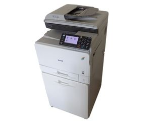 Ricoh MP C305spf used color multi-function copier, printer,  scanner, fax for sale. Low Meter