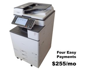 Ricoh MP C2003 used color multi-function copier, printer, scanner for sale. Low meter