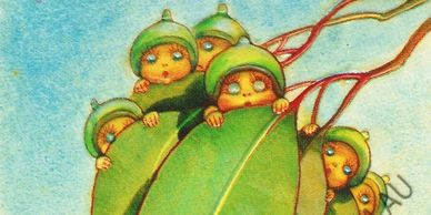 Gum Leaves by May Gibbs featuring the Gumnut Babies