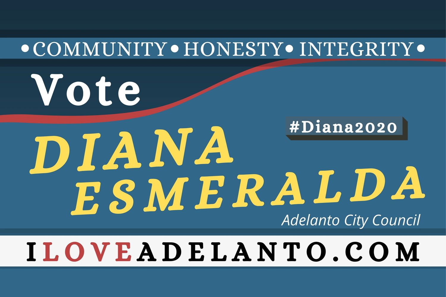 Vote Diana Esmeralda! Planning Today for a better today! #Diana2020