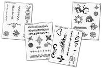 Earth Henna Temporary Tattoo Stencil Pack