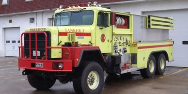 Former USAF tanker truck. Capable of 6-wheel drive. 2000 gallon tank.