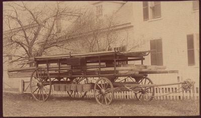 Photograph of the Hook and Ladder wagon (date unk.)