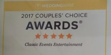 2017 Couples Choice Award from Wedding Wire