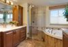 Bathroom remodel by Marc Coan on Carmel. Cabinets by Brookhaven.