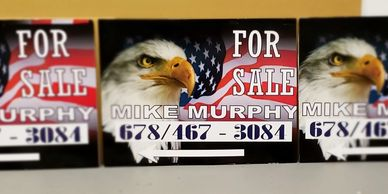 Real Estate sale yard signs