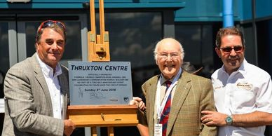 World Champion Nigel Mansell & Commentator Murray Walker officially opened the hospitality facility.