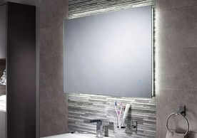 SENSIO BATHROOM MIRRORS, LED, DEMISTER PAD, HAND MOTION SENSOR CONTROLLED LIGHT, MIRRORED CABINETS