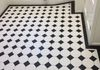 Black and White Floor Victorian Style Framed