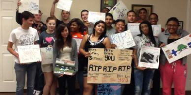 Elite Teens safe driving art project. Drivers Ed in Humble Tx for Teens