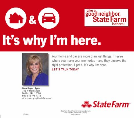 State Farm Insurance Agent Dina Bryan (845)  778-7113