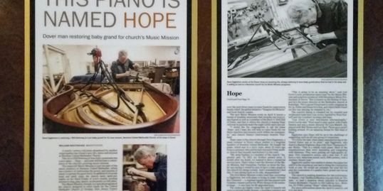 An article from The Daily Record about a piano I was restoring for Boonton United Methodist Church