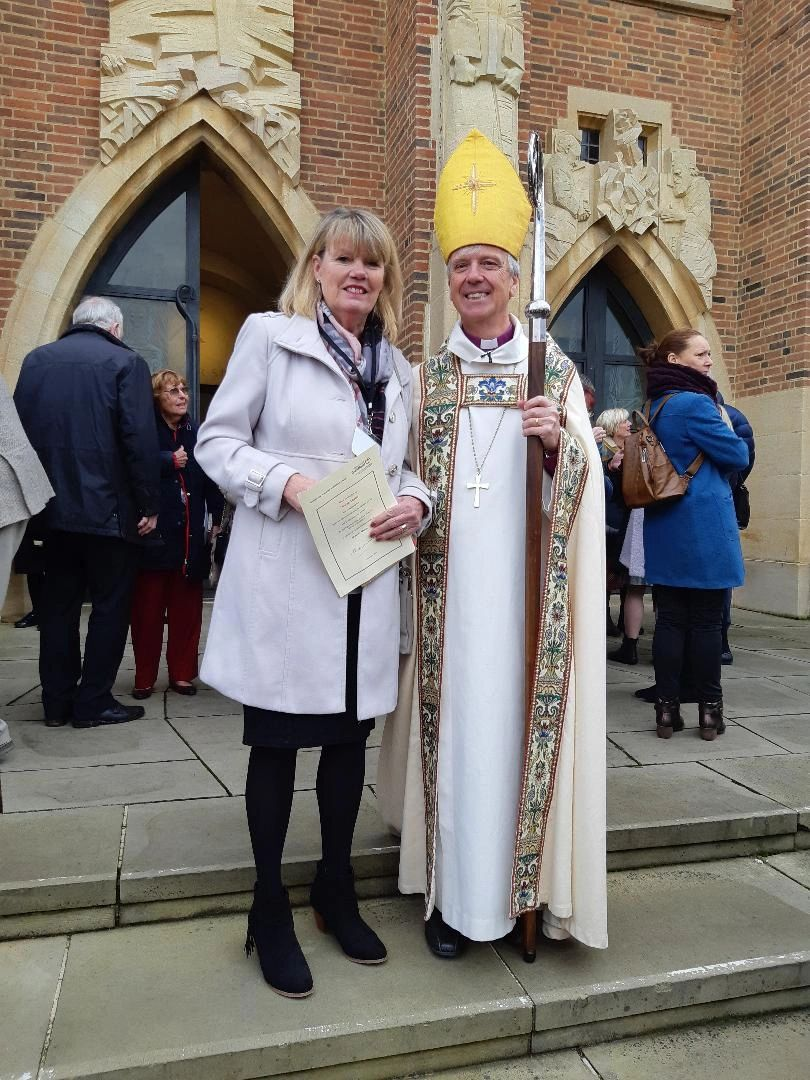 "{""blocks"":[{""key"":""esden"",""text"":""Louise Lewis and Bishop Andrew at Guildford Cathedral on Saturday 9th November following her authorisation as a pastoral assistant for All Saints Weston"",""type"":""unstyled"",""depth"":0,""inlineStyleRanges"":[],""entityRanges"":[],""data"":{}}],""entityMap"":{}}"